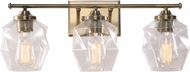 Kenroy Home 94106AB Ramona Contemporary Antique Brass 3-Light Vanity Light