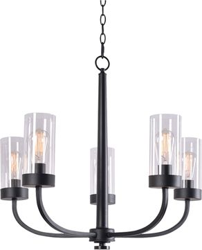 Kenroy Home 94165BRZ Townley Contemporary Black Chandelier Lamp