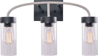 Kenroy Home 94166WW Townley Contemporary Black and White 3-Light Bath Lighting Fixture