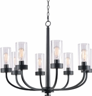 Kenroy Home 94168BRZ Townley Contemporary Black Chandelier Light