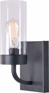 Kenroy Home 94171BRZ Townley Contemporary Black Light Sconce