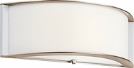 Kichler 10630PNLED Contemporary Polished Nickel LED Light Sconce