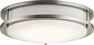 Kichler 10784NILED Modern Brushed Nickel LED Flush Mount Lighting