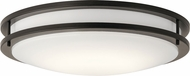 Kichler 10786OZLED Contemporary Olde Bronze LED Flush Mount Lighting Fixture