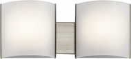 Kichler 10798NILED Modern Brushed Nickel LED 2-Light Bathroom Lighting