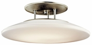 Kichler 10898NI Small 20 Inch Diameter Nickel Finish Semi Flush Mount Light Fixture