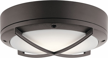 Kichler 11134AZTLED Contemporary Textured Architectural Bronze LED Outdoor Overhead Lighting Fixture