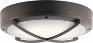 Kichler 11135AZTLED Modern Textured Architectural Bronze LED Exterior Ceiling Lighting