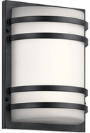 Kichler 11320BKTLED Contemporary Textured Black LED Outdoor Wall Sconce