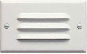 Kichler 12600WH Step and Hall 120V Contemporary White LED Outdoor Landscape Light Horizontal Louvered Step Light