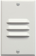 Kichler 12606WH Step and Hall 120V Contemporary White LED Exterior Landscaping Light Vertical Louvered Step Light
