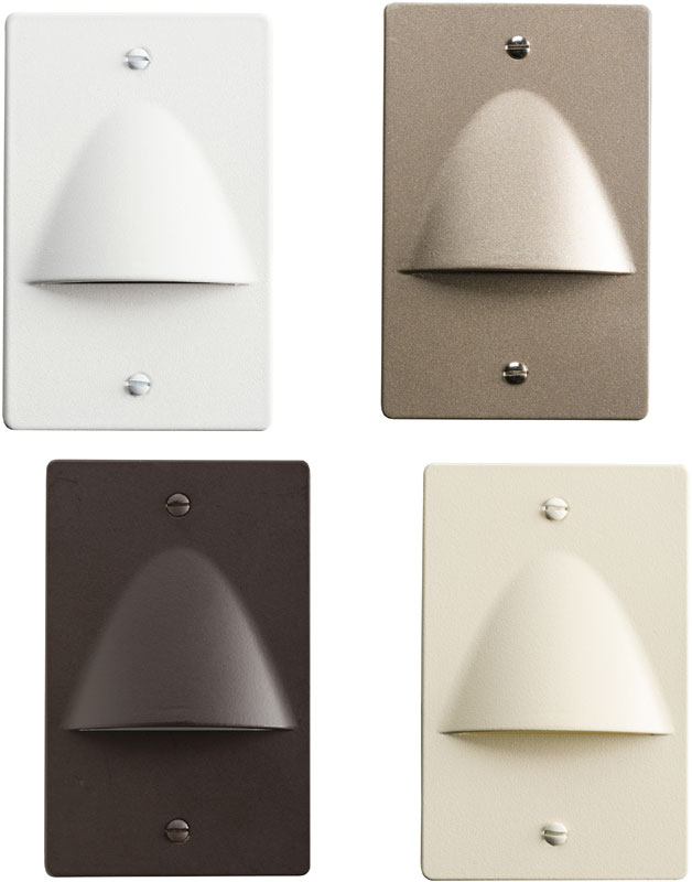 Kichler 12667 Step and Hall Light Contemporary LED Step Light Non Dimmable  Indoor Step Lighting