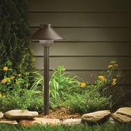 Kichler 15821AZT Landscape LED Transitional 15 Inch Tall Textured Architectural Bronze Path Light