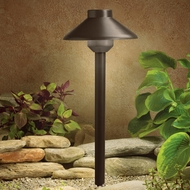 Kichler 15821BBR Landscape LED 15 Inch Tall Bronzed Brass Path Light - Transitional