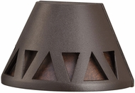 Kichler 16112AZT27 Contemporary Textured Architectural Bronze LED Exterior 2700k Deck Light