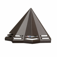 Kichler 16113AZT27 Contemporary Textured Architectural Bronze LED Exterior 2700k Deck Light