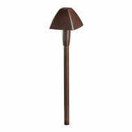 Kichler 16121TZT27 Contemporary Textured Tannery Bronze LED Exterior 2700k Path Light