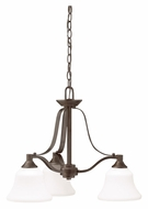 Kichler 1781OZ Langford Olde Bronze 3 Lamp Downlight 22 Inch Diameter Mini Chandelier