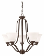 Kichler 1783OZ Langford Medium 5 Lamp 27 Inch Diameter Olde Bronze Lighting Chandelier