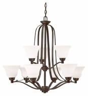 Kichler 1784OZ Langford Large Transitional Style 9 Lamp Hanging Chandelier - Olde Bronze
