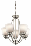 Kichler 1788NI Langford 16 Inch Diameter Brushed Nickel Mini Chandelier Lamp
