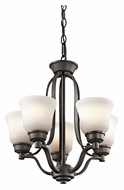 Kichler 1788OZ Langford 5 Lamp Transitional Mini Lighting Chandelier - Olde Bronze