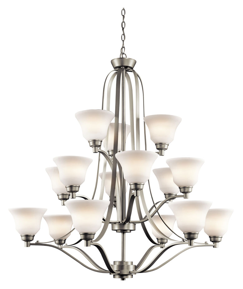 Kichler 1789ni Langford Extra Large 15 Lamp Transitional Chandelier Lighting Fixture Loading Zoom