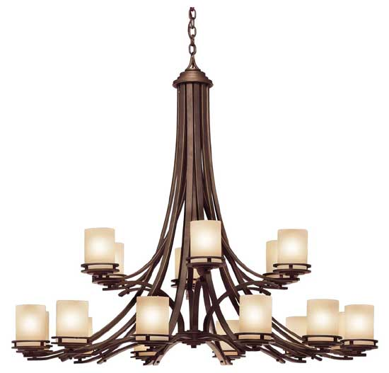 Lamp Chandelier In Olde Bronze