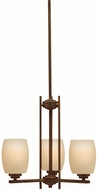 Kichler 1894OZL16 Eileen Contemporary Olde Bronze LED Mini Lighting Chandelier