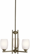 Kichler 1894OZSL16 Eileen Contemporary Olde Bronze LED Mini Chandelier Light