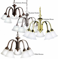Kichler 2022 Hastings Classic 23 Inch Diameter 5 Lamp Small Chandelier
