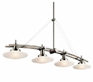 Kichler 2043NI Structures Contemporary 4-Lamp Kitchen Island Light in Brushed Nickel