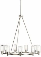 Kichler 2346NI Circolo Contemporary Brushed Nickel 36  Chandelier Light