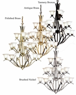 Kichler 2523 Dover Extra Large 15 Light Triple Tier Transitional 45 Inch Tall Chandelier Lighting