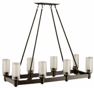 Kichler 2943OZ Circolo 8 Light 36 Inch Contemporary Kitchen Island Fixture in Bronze