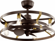 Kichler 300040SNB Cavelli Contemporary Satin Natural Bronze LED Home Ceiling Fan