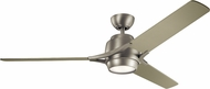 Kichler 300060NI Zeus Contemporary Brushed Nickel LED Ceiling Fan