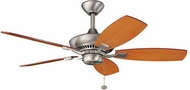 Kichler 300107NI Canfield Brushed Nickel 44 Home Ceiling Fan