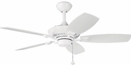 Kichler 300107WH Canfield White 44 Home Ceiling Fan