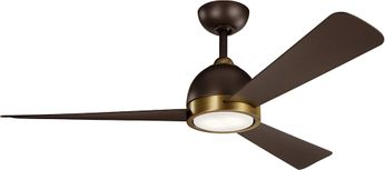 Kichler 300270SNB Incus Contemporary Satin Natural Bronze LED 56 Home Ceiling Fan