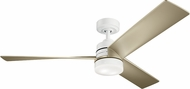 Kichler 300275WH Spyn Contemporary White LED 52 Home Ceiling Fan