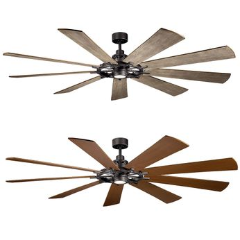 Kichler 300285avi Gentry Xl Anvil Iron Led 85 Quot Ceiling Fan