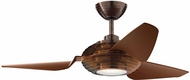Kichler 300708OBB Contemporary Clear Oil Brushed Bronze 50 Indoor Ceiling Fan