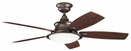 Kichler 310104WCP Cameron 52 Ceiling Fan Light in Weathered Copper Powder Coat Finish