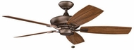 Kichler 310192WCP Canfield Patio Weathered Copper Powder Coat Interior / Exterior 52 Home Ceiling Fan