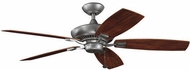 Kichler 310192WSP Canfield Patio Weathered Steel Powder Coat Interior / Exterior 52 Home Ceiling Fan