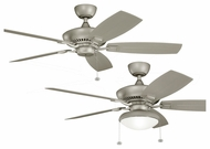 Kichler 320500ANS-B371010ANS Canfield Antique Satin Silver Finish 52 Inch Wide Home Ceiling Fan With Optional Lighting Kit