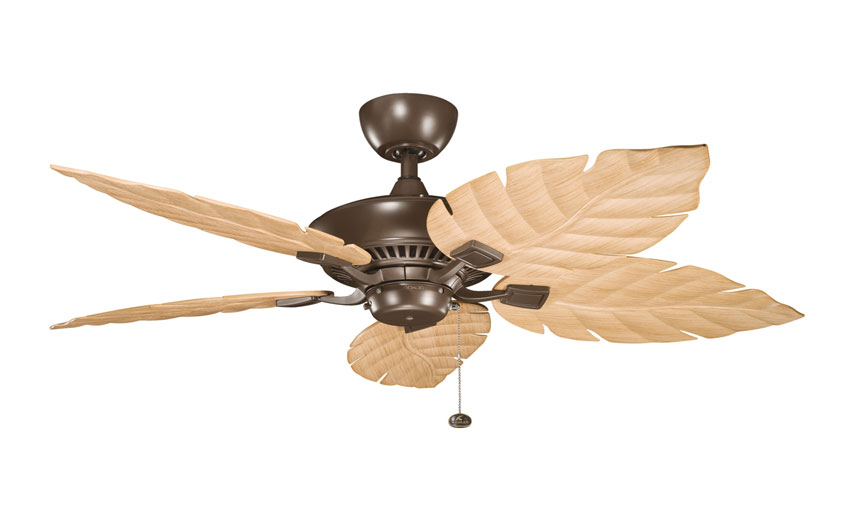 Kichler 320500cmo 370021 Canfield Coffee Mocha Finish 52 Inch Wide Home Ceiling Fan With White Loading Zoom