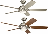 Kichler 330001BSS Geno Brushed Stainless Steel Walnut / Silver 54 Indoor Home Ceiling Fan