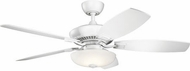 Kichler 330013MWH Canfield Pro Brushed Nickel LED 52 Ceiling Fan
